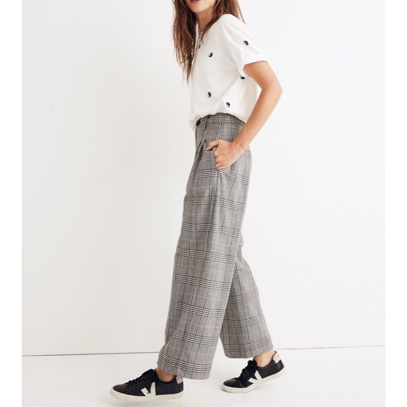 4e3b0ab777 Madewell Pants - Madewell pleated wide leg pants in plaid